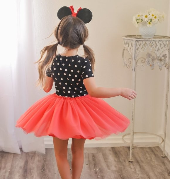 Taylor Joelle BLACK DOTS TUTU DRESS