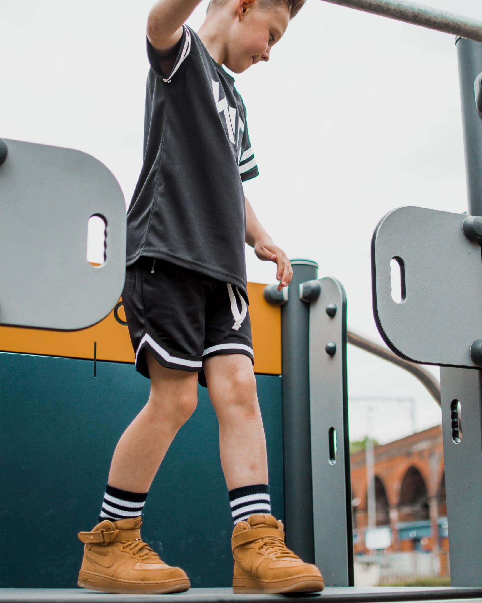 Beaubella Kids BLACK BASEBALL SHORTS | BLACK COMFORTABLE SHORT PANTS | BEAUBELLAKIDS
