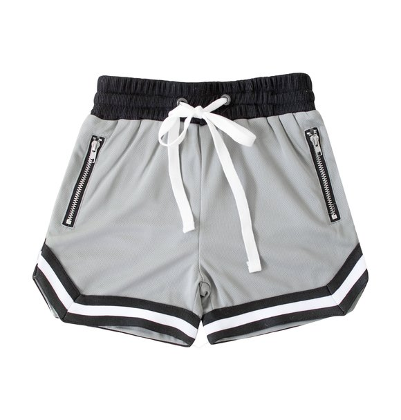 Beaubella Kids BALLER MESH SHORTS GREY