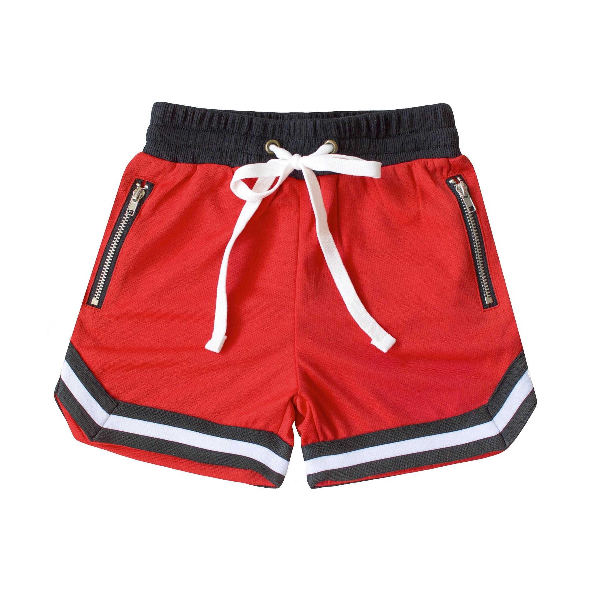 Beaubella Kids RED BASEBALL SHORTS | RED COMFORTABLE SHORT PANTS | BEAUBELLAKIDS