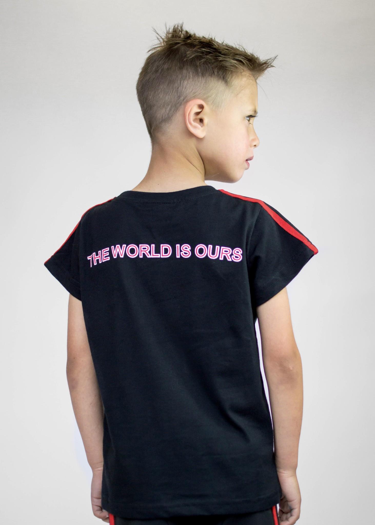 Beaubella Kids ZWART STOER SHIRT | ZWART SHIRT MET TEKST PRINT | JONGENSKLEDING