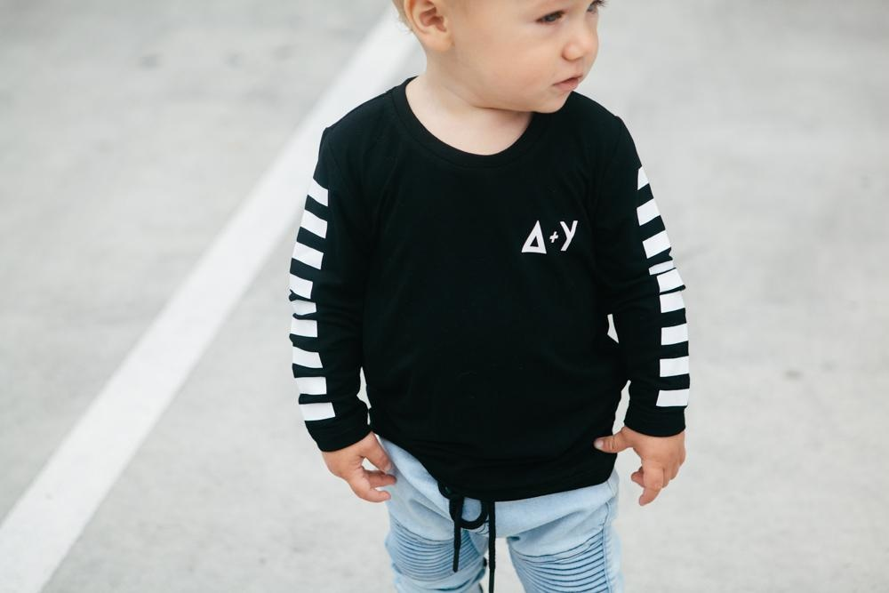 Adam + Yve BLACK EXTRA LONG SHIRT | COOL LONGSLEEVE | STREETWEAR FOR KIDS