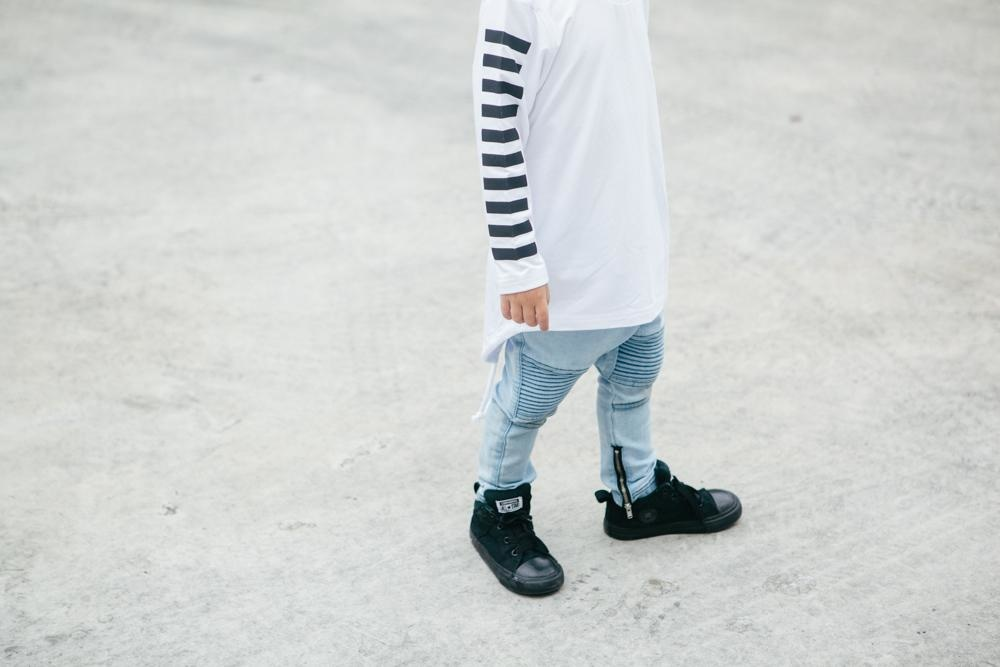 Adam + Yve WHITE LONGLSEEVE FOR BOYS | HIGH QUALITY STREETWEAR FOR KIDS
