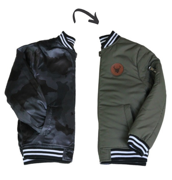 Oovy REVERSIBLE DARK CAMO JACKET