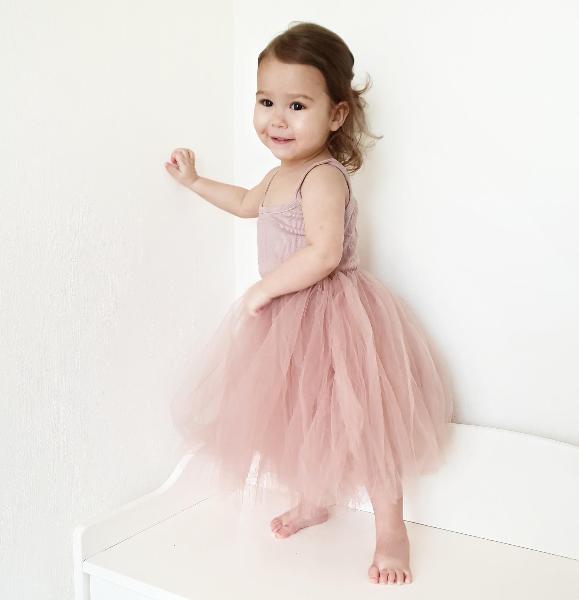 Ma Mer PINK TUTU DRESS WITH RIBBED TOP | MA MER