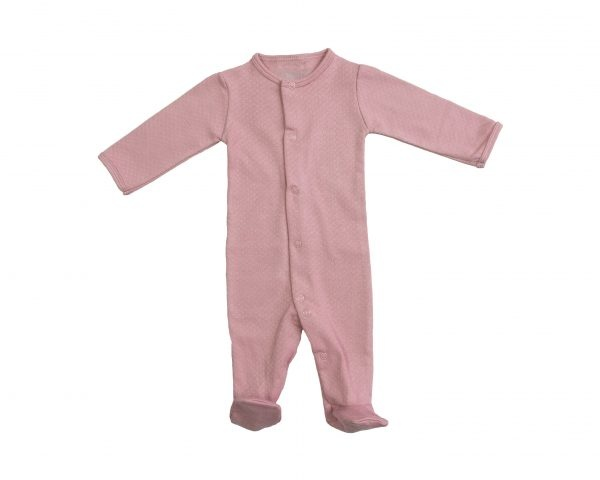 Mats & Merthe BABY CLOTHING | OLD PINK PLAYSUIT WITH LONG SLEEVES AND FEET