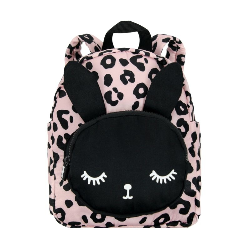 Roze rugzak kind | Kinder rugzak met luipaardprint | VanPauline