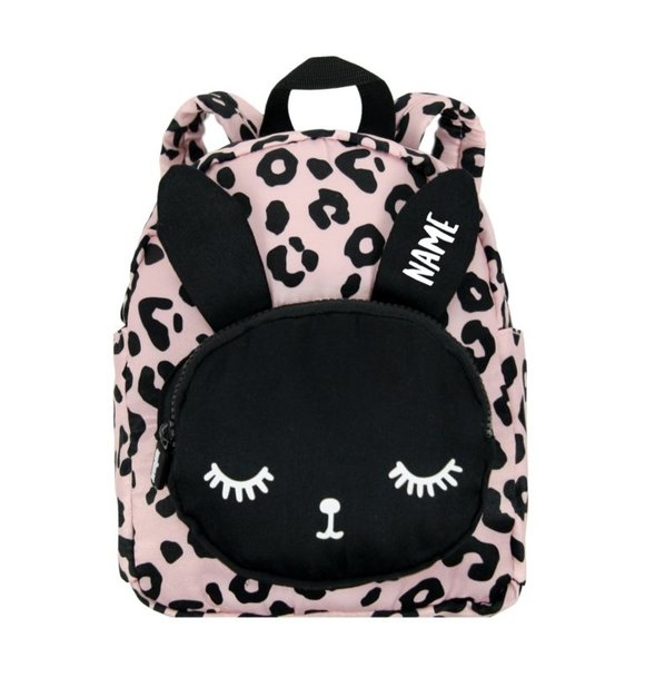VanPauline BACKPACK BUNNY PINK LEOPARD+ NAME