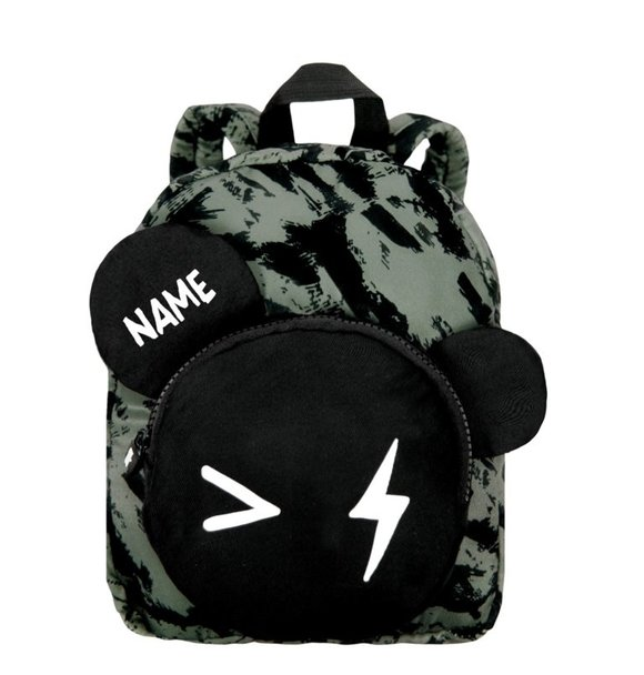 VanPauline BACKPACK BEAR GREEN DISTRESS + NAME