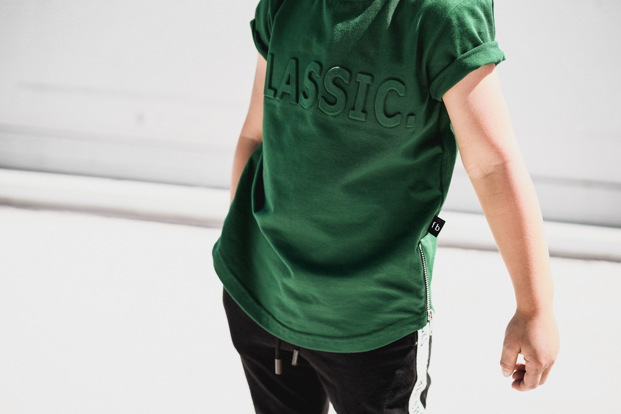 Fred and Brooks GROEN TSHIRT JONGEN | BASIC GROEN SHIRT | FRED AND BROOKS