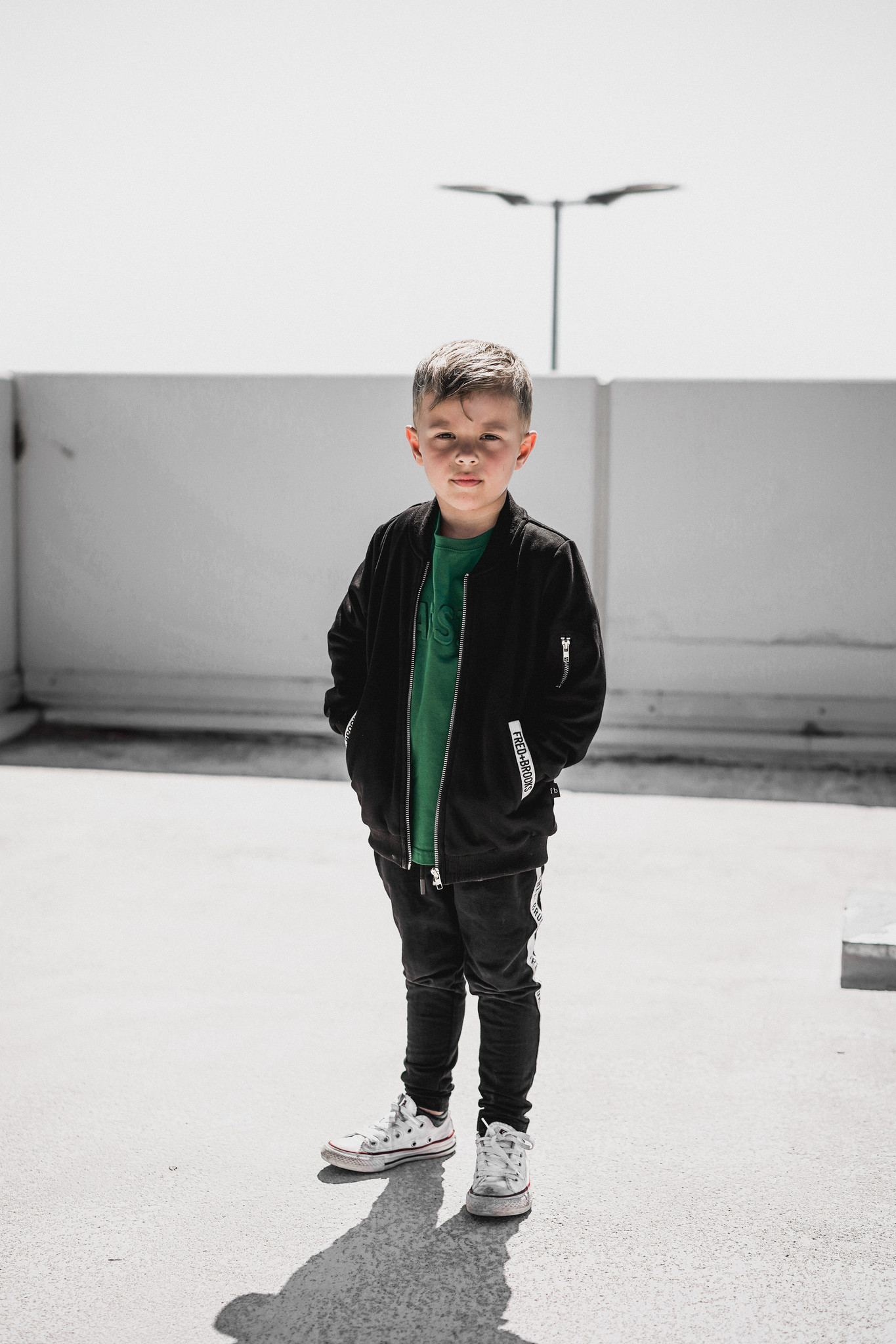 Fred and Brooks BLACK JACKET BOY | COTTON JACKET WITH ZIPPER | STREETWEAR
