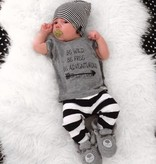 Beau Hudson ZWART WIT GESTREEPTE NEWBORN BEANIE | GESTREEPT MUTSJE PASGEBOREN BABY | BEAU HUDSON
