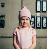 Kiddow COTTON HAT | COTTON RIBBED BEANIE PINK | STREETWEAR FOR CHILDREN