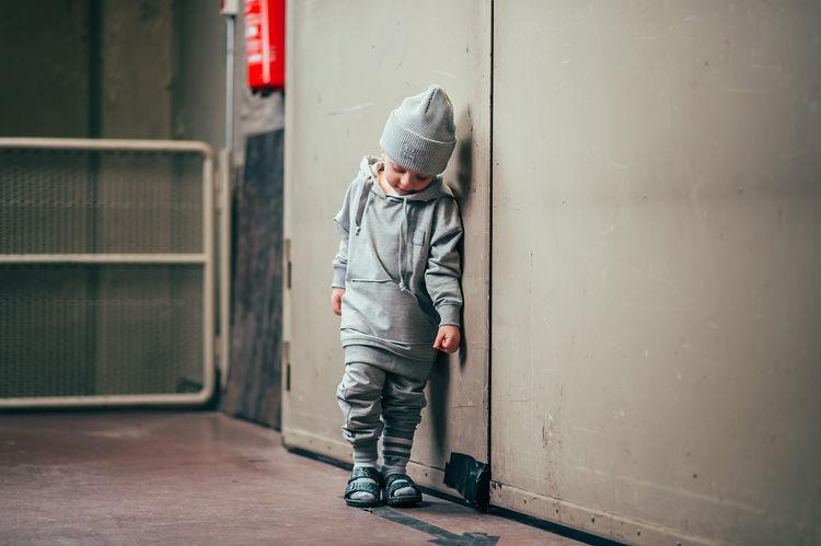 Kiddow KATOENEN MUTS | KATOEN GERIBDE BEANIE GRIJS | STREETWEAR VOOR KINDEREN