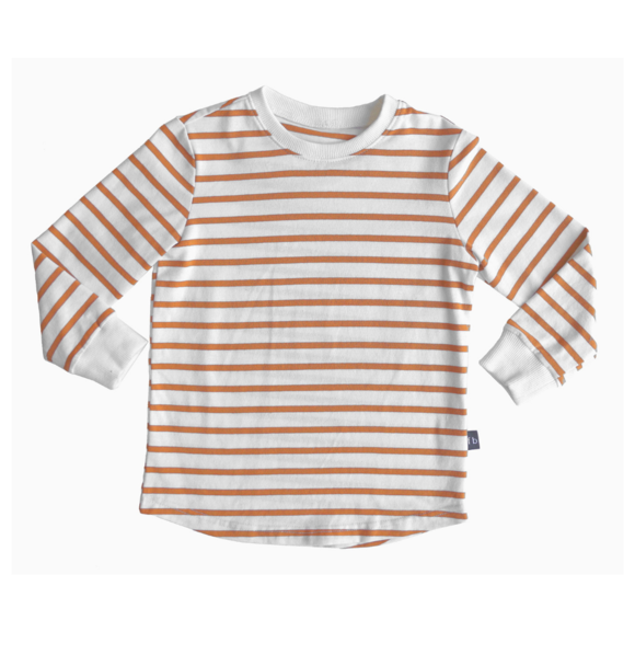 Fred and Brooks STRIPE LONGSLEEVE TAN