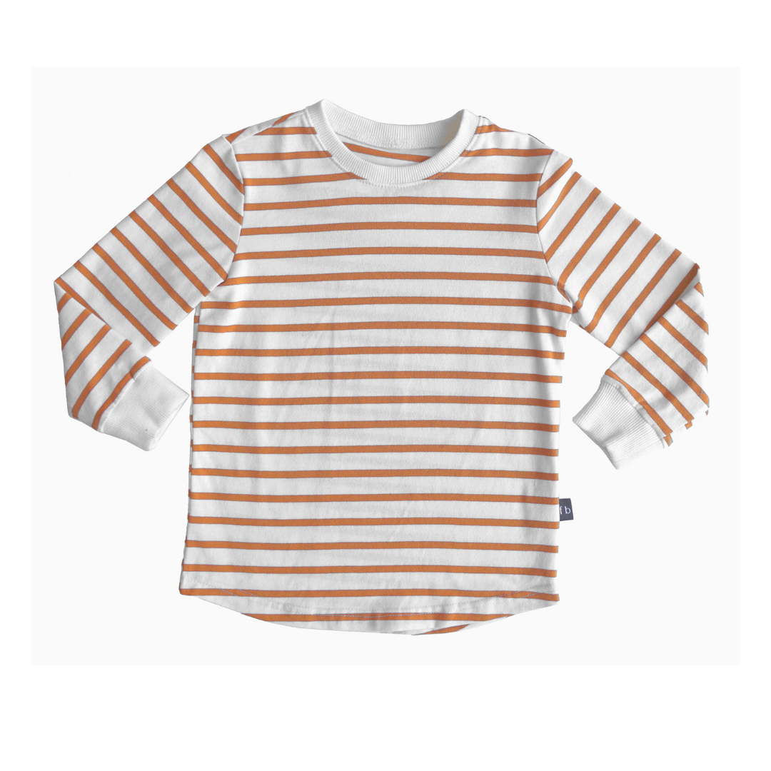 Fred and Brooks STRIPED LONG SLEEVE | WHITE LONG SLEEVED SHIRT | CHILDREN'S CLOTHING