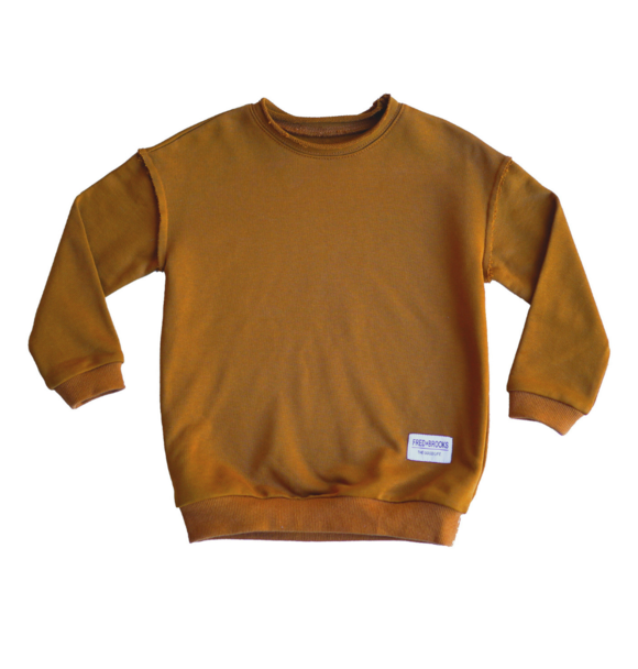 Fred and Brooks BURNT ORANGE OVERSIZED SWEATER