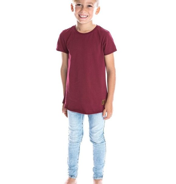 Beau Hudson RAW EDGE MAROON TALL TEE