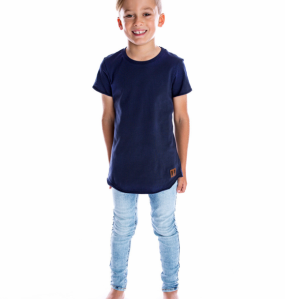 Beau Hudson RAW EDGE NAVY TALL TEE