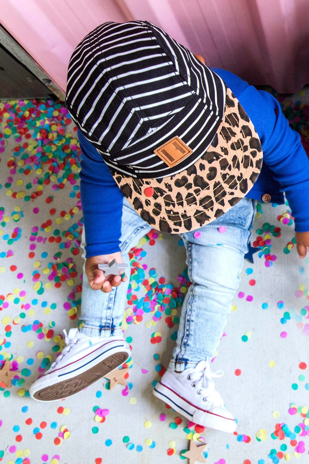 Beau Hudson 6 PANEL CAP FOR BABY'S | CHILDRENS CAP WITH LEOPARD PRINT