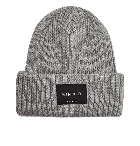 Minikid RIBBED BEANIE GREY