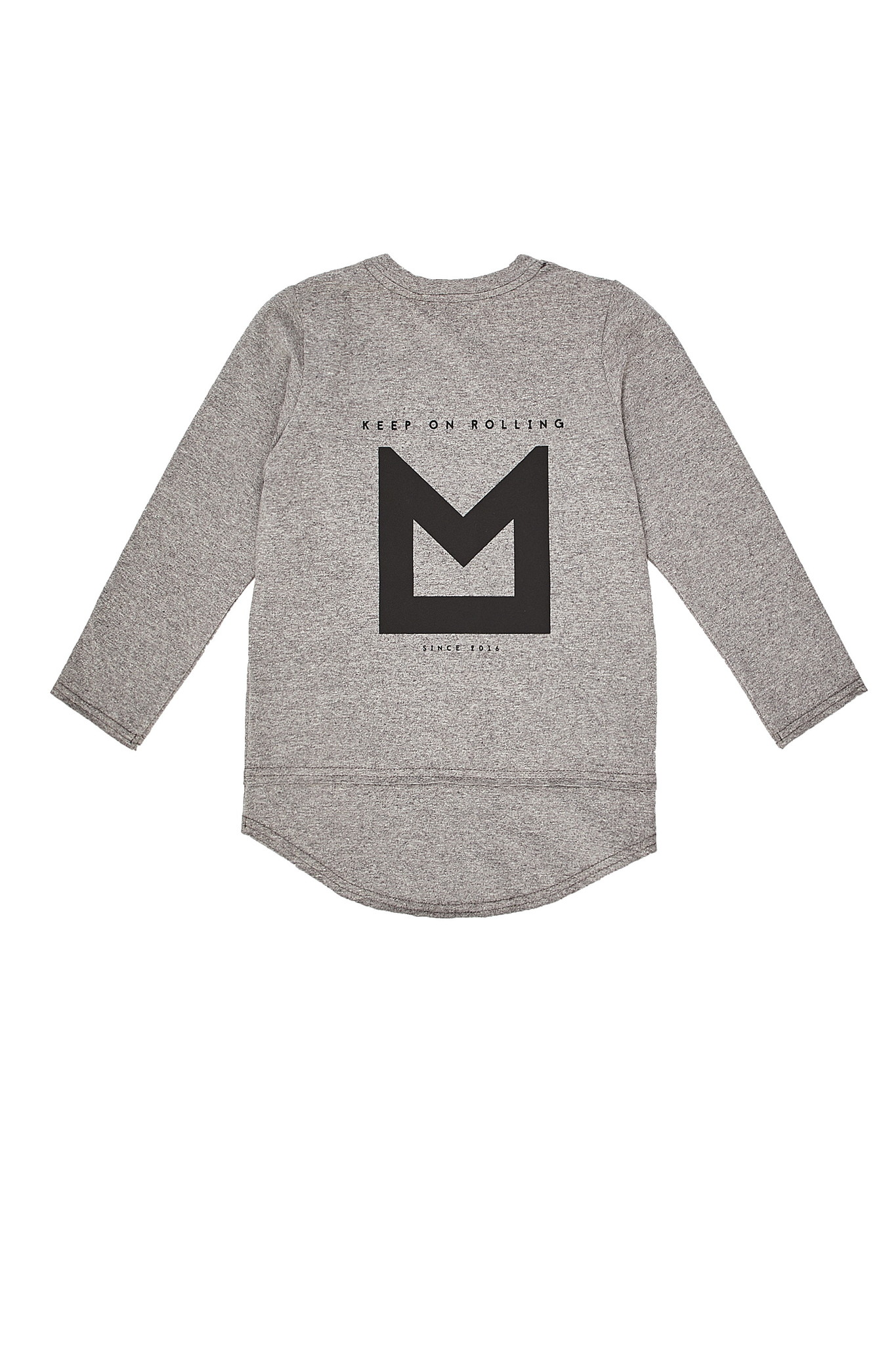 Minikid EXTRA LONG LONG SLEEVE | GREY COOL SHIRT WITH LONG SLEEVES | MINIKID