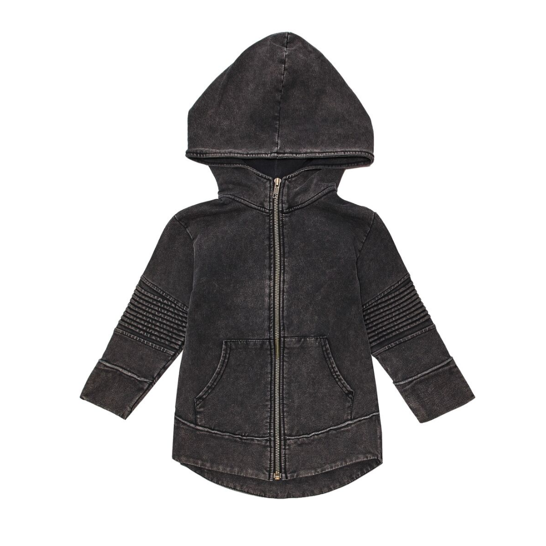 Minikid BLACK LONG HOODIE| STREETWEAR KIDSFASHION | MINIKID