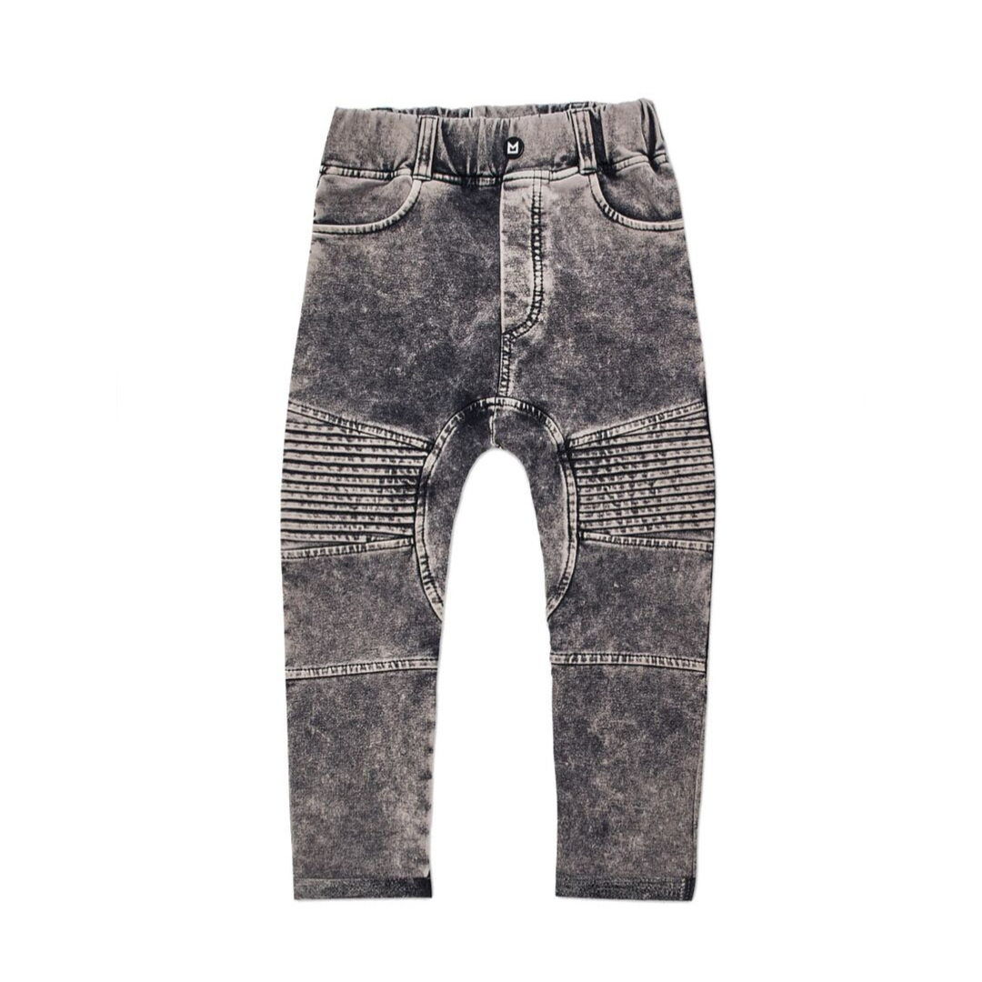 Minikid GRAY JEANS Tough JOGGER WITH WASHING   CHILDREN'S CLOTHING ONLINE