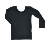 No Labels Kidswear BLACK SHIRT WITH LOW BACK | BLACK LONG SLEEVED SHIRT | GIRLS CLOTHING