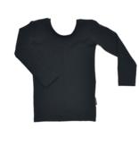 No Labels Kidswear ZWART SHIRT MET LAGE RUG | ZWART SHIRT MET LANGE MOUWEN | MEISJES