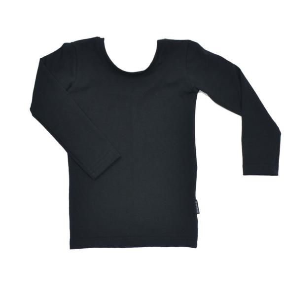 No Labels Kidswear LOW BACK SHIRT BLACK