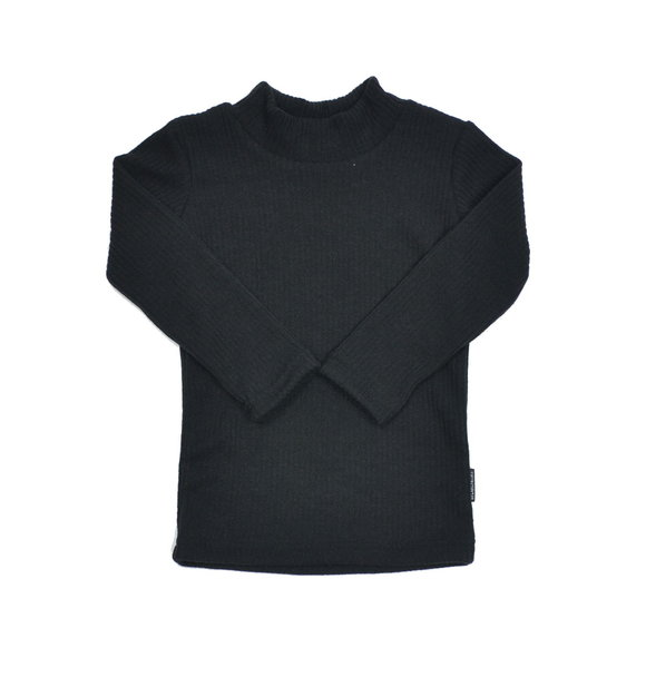No Labels Kidswear TURTLE NECK BLACK RIB