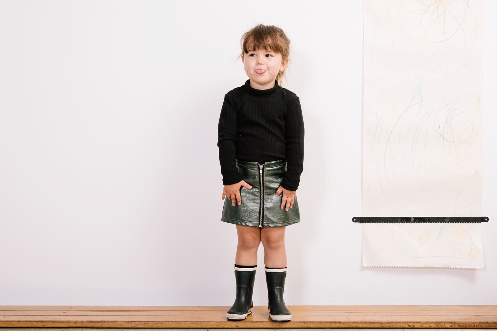 No Labels Kidswear BLACK RIBBED COLTRUI | CHILDREN'S CLOTHING