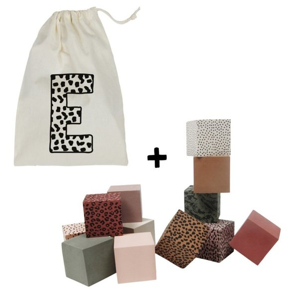 VanPauline BLOCKS WITH STORAGE BAG + NAME