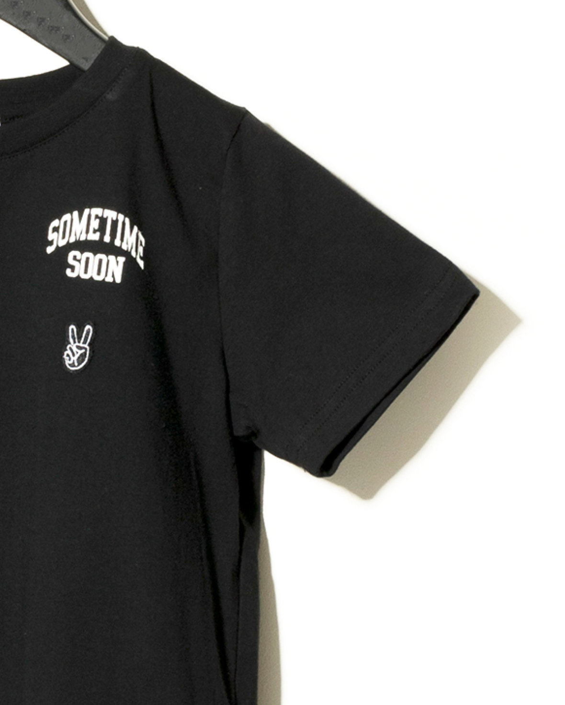 Sometime Soon Official ZWART STATEMENT T-SHIRT | STREETWEAR KINDERKLEDING | SOMETIME SOON
