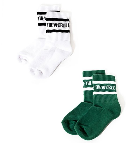 Sometime Soon Official CARBON SOCKS - WHITE / GREEN