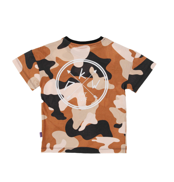 Kiddow OVERSIZED T-SHIRT BEIGE CAMO