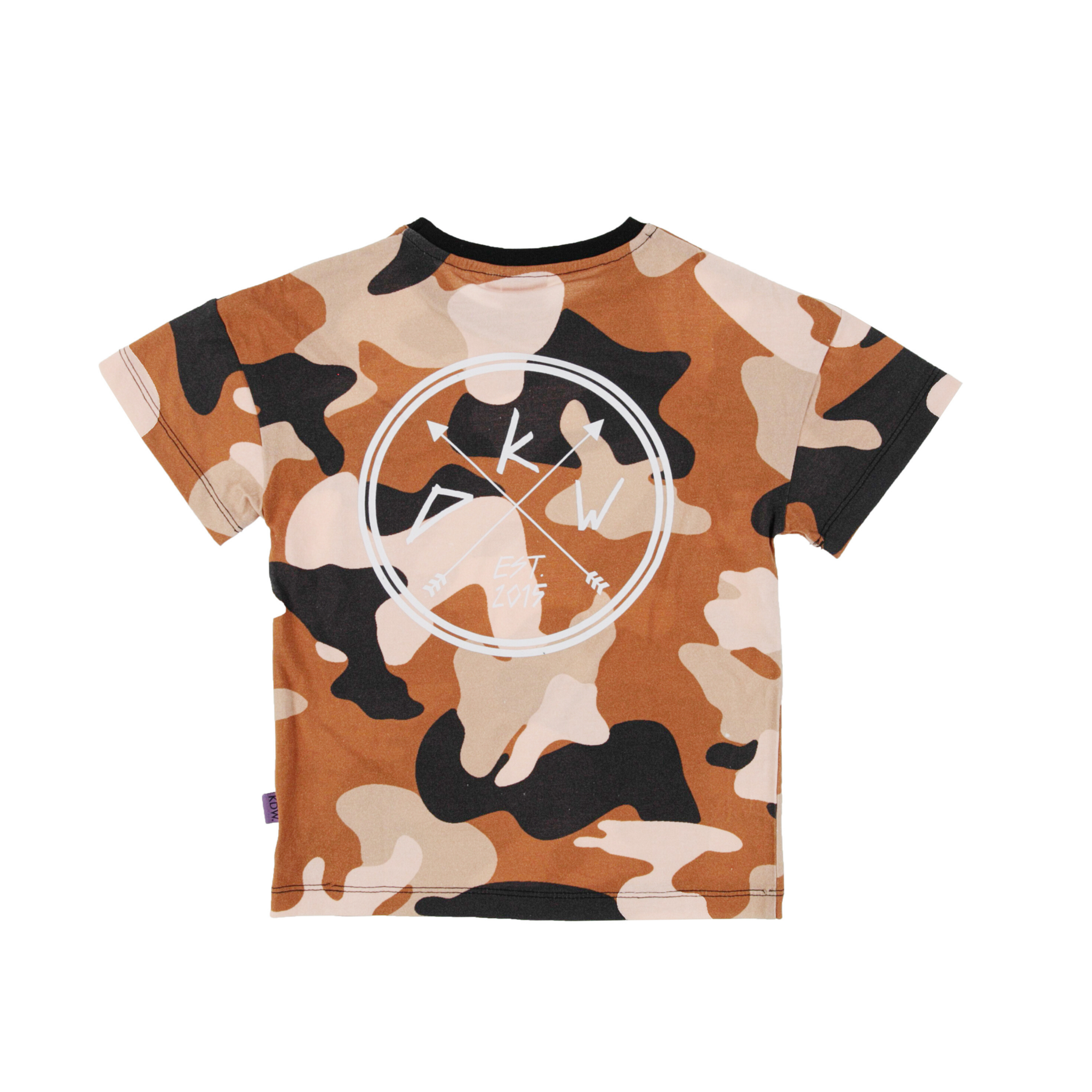 Kiddow OVERSIZED T-SHIRT IN CAMOUFLAGE PRINT | COOL SHIRT FOR CHILDREN | CHILDREN'S CLOTHING