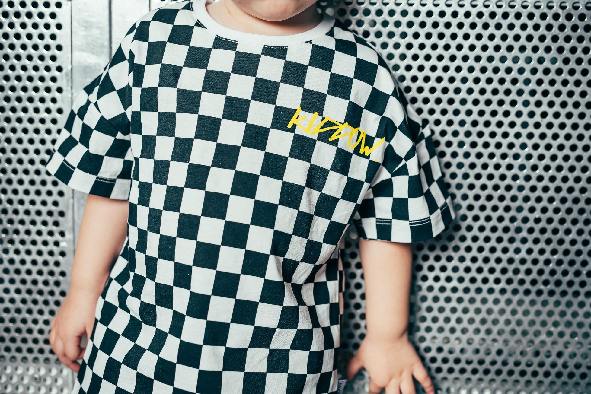 Kiddow OVERSIZED CHECKERED T-SHIRT | COOL SHIRT FOR CHILDREN | CHILDREN'S CLOTHING