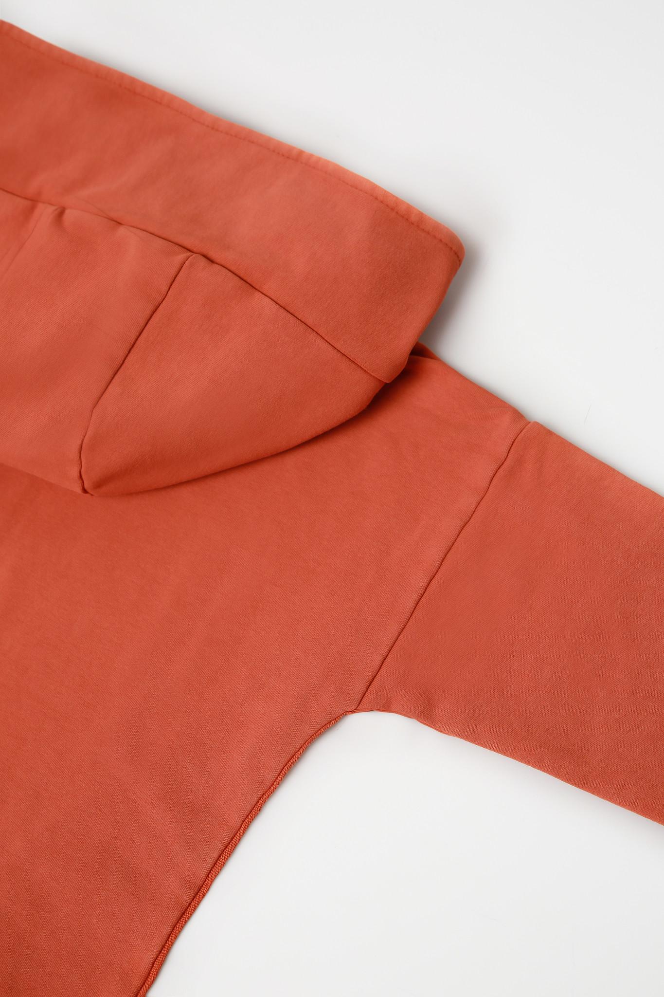 Minikid LONG HOODIE | ORANGE RED HOODED CARDIGAN | MINIKID