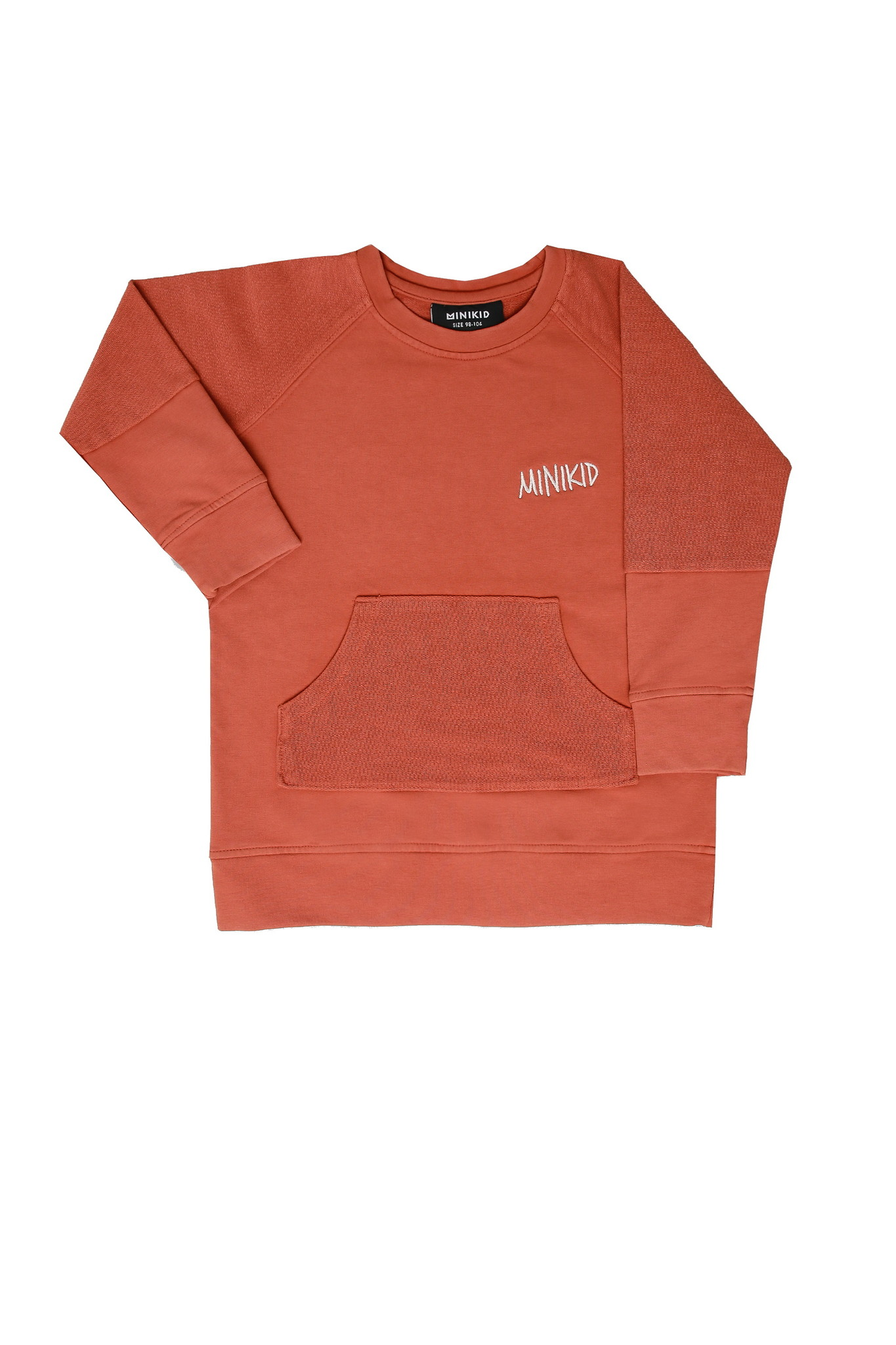 Minikid ORANGE RED SWEATER | UNISEX SWEATER WITH FRONT POCKET | MINIKID