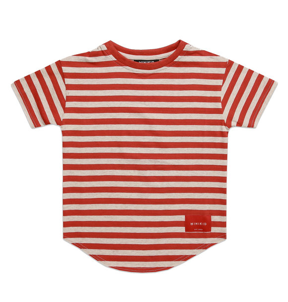 Minikid MOROCCAN BRICK STRIPED T-SHIRT