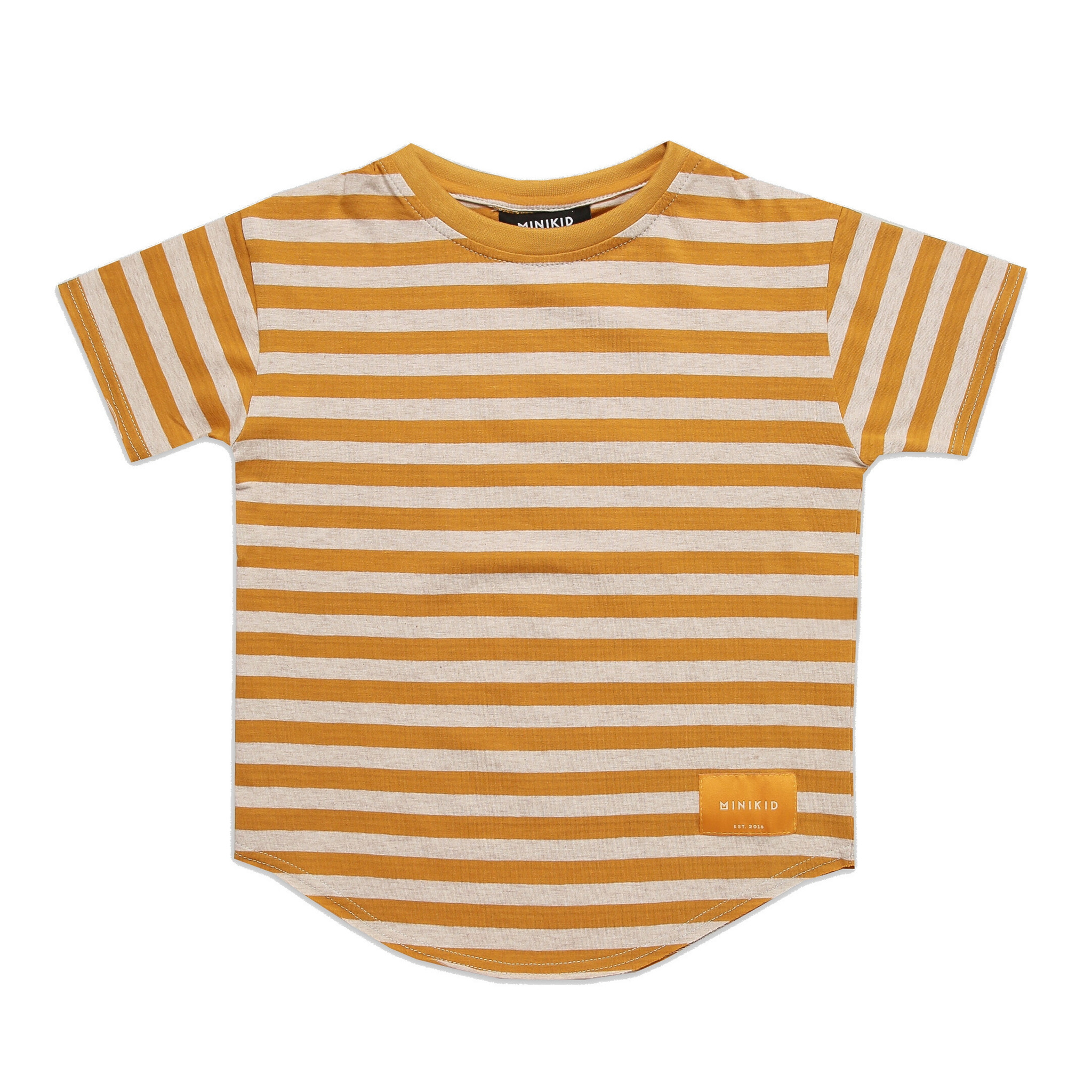 Minikid EXTRA LONG T-SHIRT | YELLOW STRIPED SHIRT FOR CHILDREN | MINIKID
