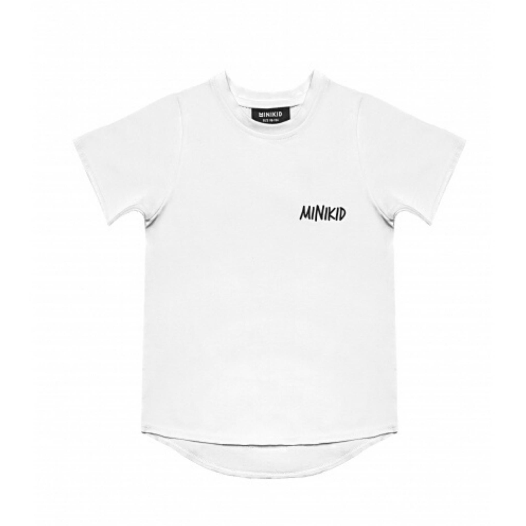 Minikid COOL T-SHIRT CHILDREN | WHITE LONGER SHIRT FOR BOYS | MINIKID