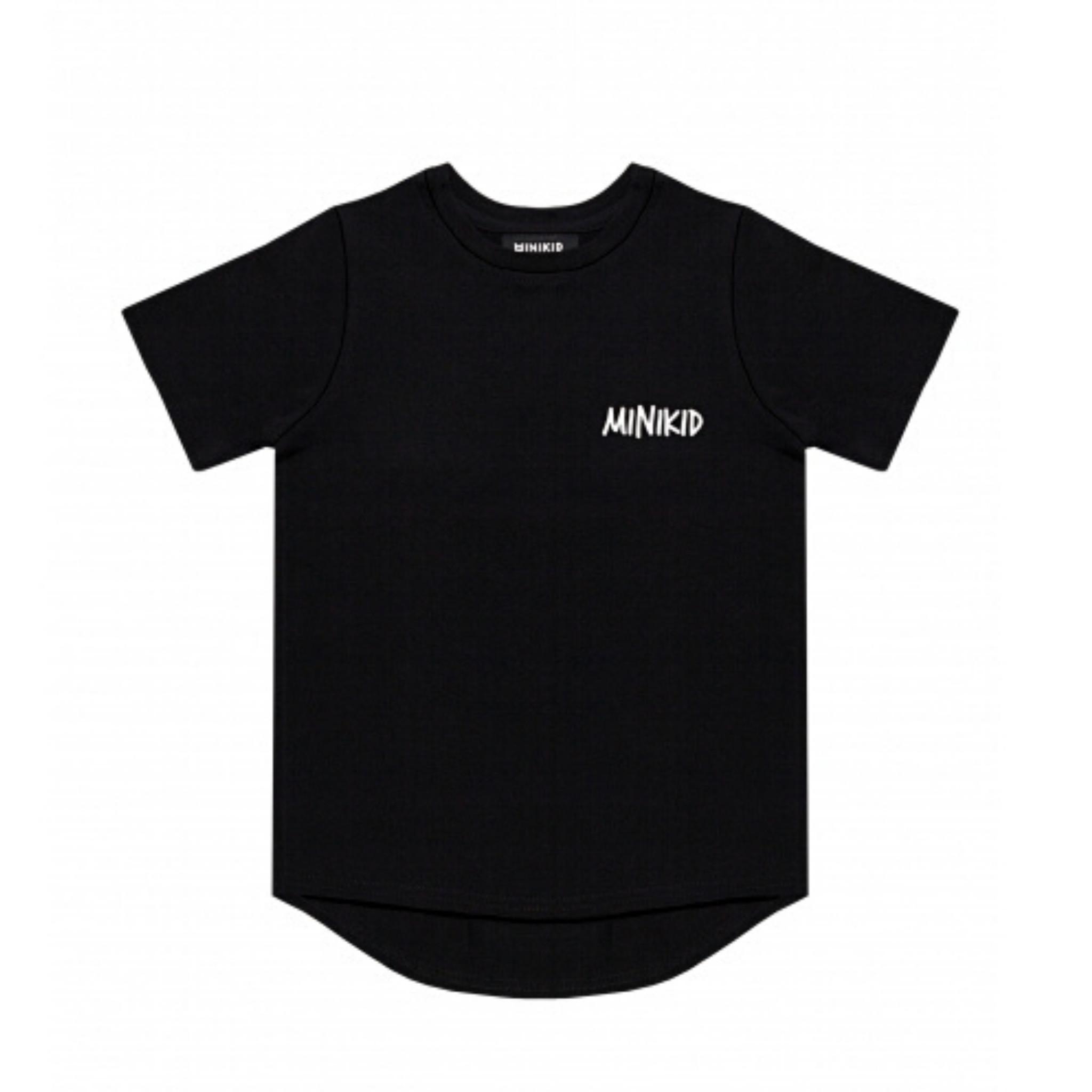 Minikid COOL T-SHIRT CHILDREN | LONGER BLACK SHIRT FOR BOYS | MINIKID