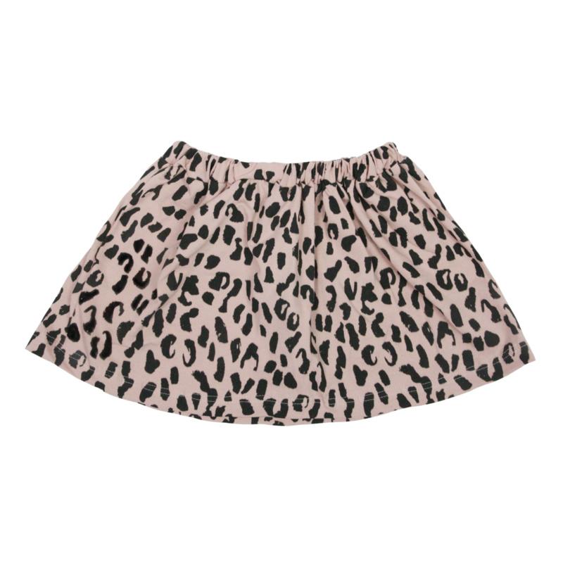 VanPauline PINK SKIRT FOR GIRLS SKIRT WITH LEOPARDPRINT   GIRL CLOTHING