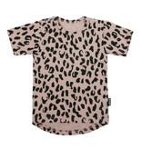 VanPauline PINK GIRL SHIRT | T-SHIRT WITH LEOPARD PRINT | GIRL CLOTHING