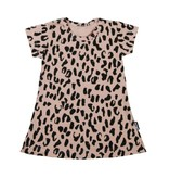 VanPauline PINK GIRL DRESS | DRESS WITH LEOPARD PRINT | GIRL CLOTHING