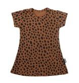 VanPauline BROWN GIRL DRESS | DRESS WITH DOTS PRINT | GIRL CLOTHING