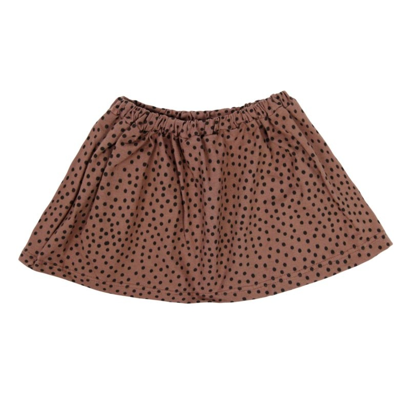 VanPauline PINK SKIRT FOR GIRLS SKIRT WITH DOTS PRINT | GIRL CLOTHING